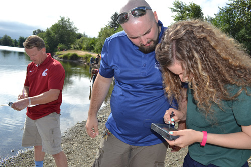Agriculture teachers practice natural resources and ecology skills at the Washington CASE Institute.