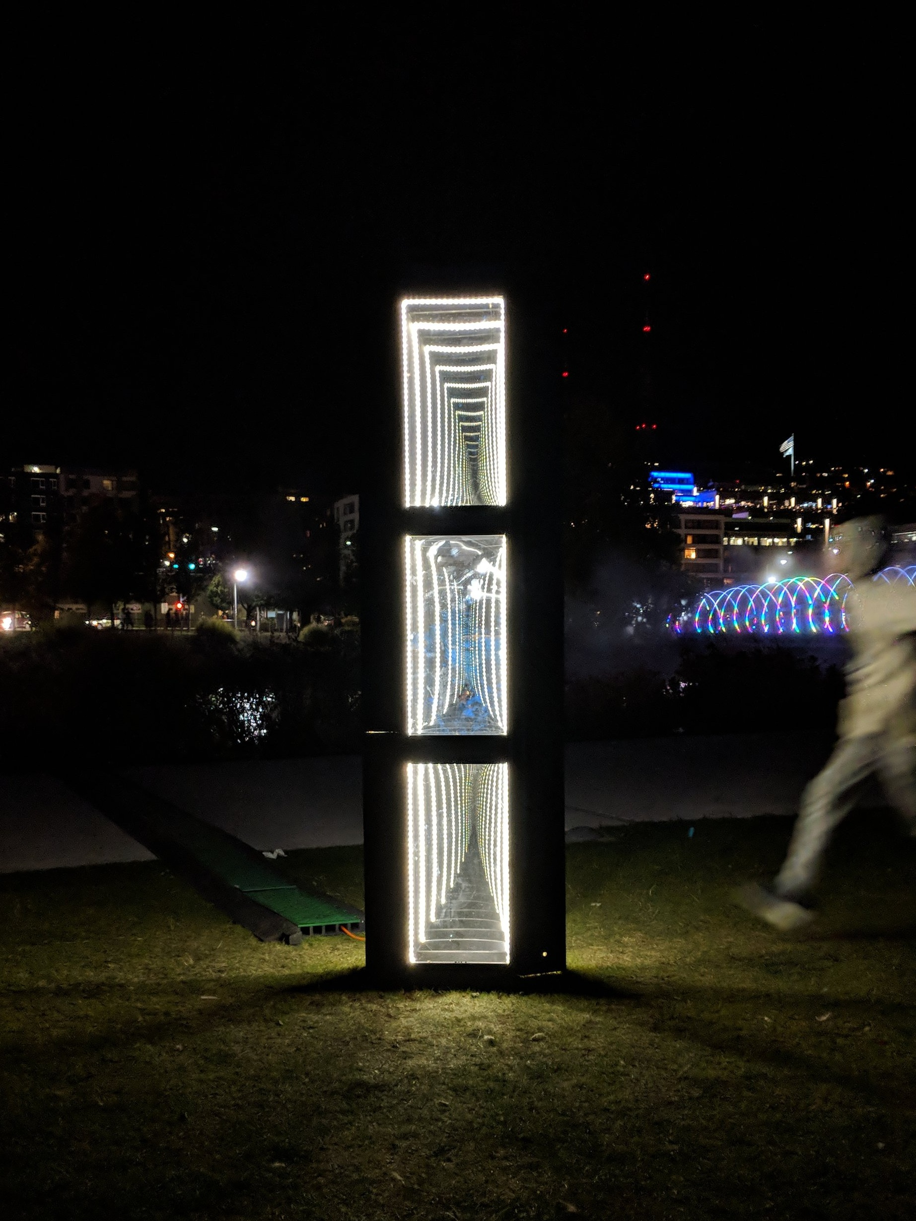 - Reflection of Monolith, was commissioned by the city of Seattle for Borealis Festival of Light, located in South Lake Union, Seattle, WA. The light sculpture is 8' x 3' and displays three infinity mirrors.