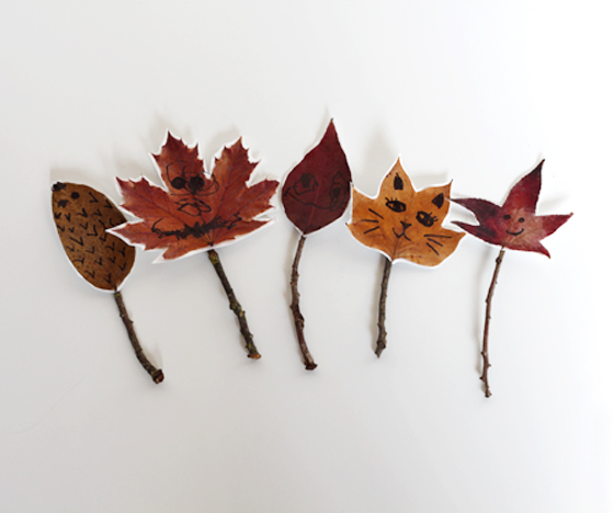 Nature Stick Puppets - Materials:Twigs or branchesLeavesFlower Petals or other objects found in natureTapeCrayon or non-toxic markerDirections:Pick a nature spot with your child. Gather nature objects for your stick puppet like flowers, leaves and twigs or branches.Cut the petals or leaves to make wings, arms, clothes, etc.Tape onto stick.Use crayons or marker to add details like a face.Make up a story together about your characters. What's the stick puppet's name? Who are her/his friends? Where does she or he live? What happened while they were in the woods/ park? Let your child put on the puppet show for you, or you can do it together. Have fun.Activity courtesy of Vlatka Herzberg