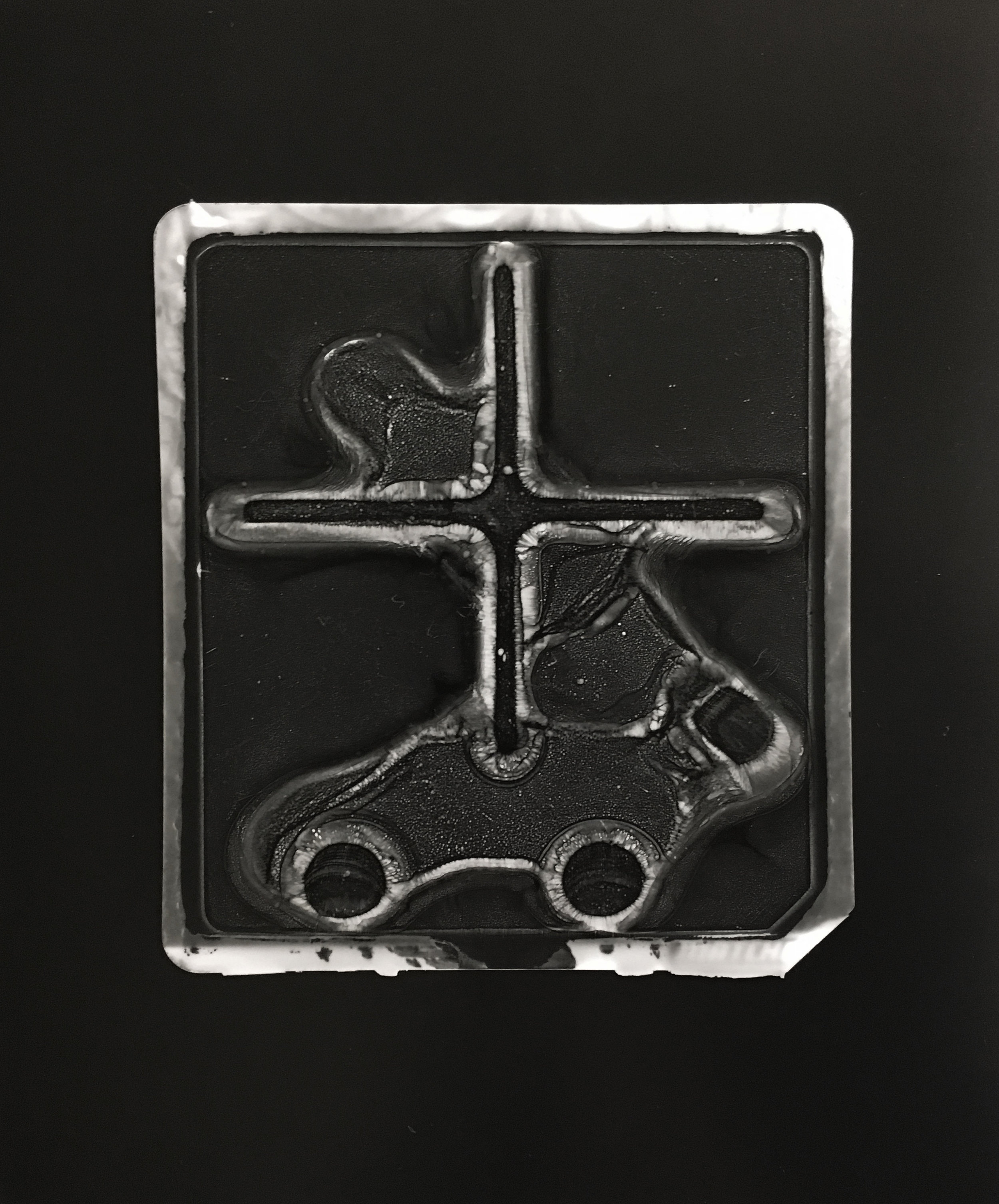 A FALSE FRONT FOR EFFECT  (gelatin silver contact print)