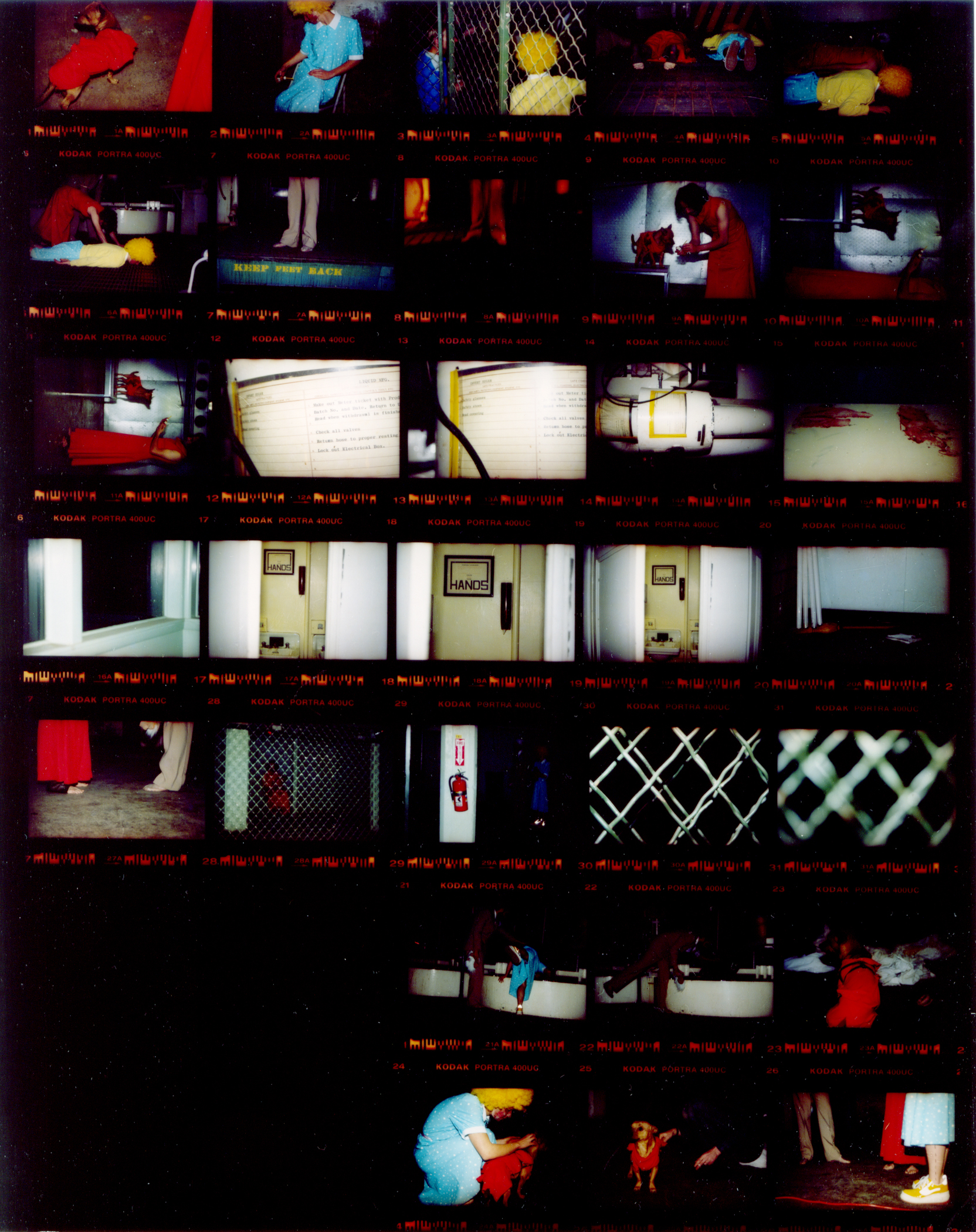 HAPPY CHINESE BILLIE HOLIDAY  (c-print contact sheet)