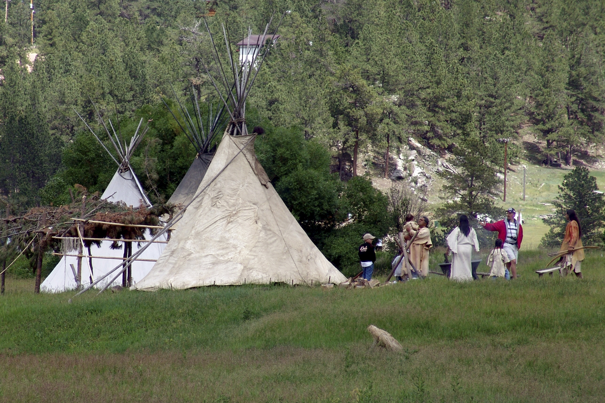 Lakota Tradition (Black Hills)  Is his finger pointing or shooting? (c-print)