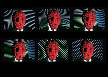 """""""Meat-Headroom"""" (an homage to Nam June Paik) featuring the Headroom of Max (2006)"""