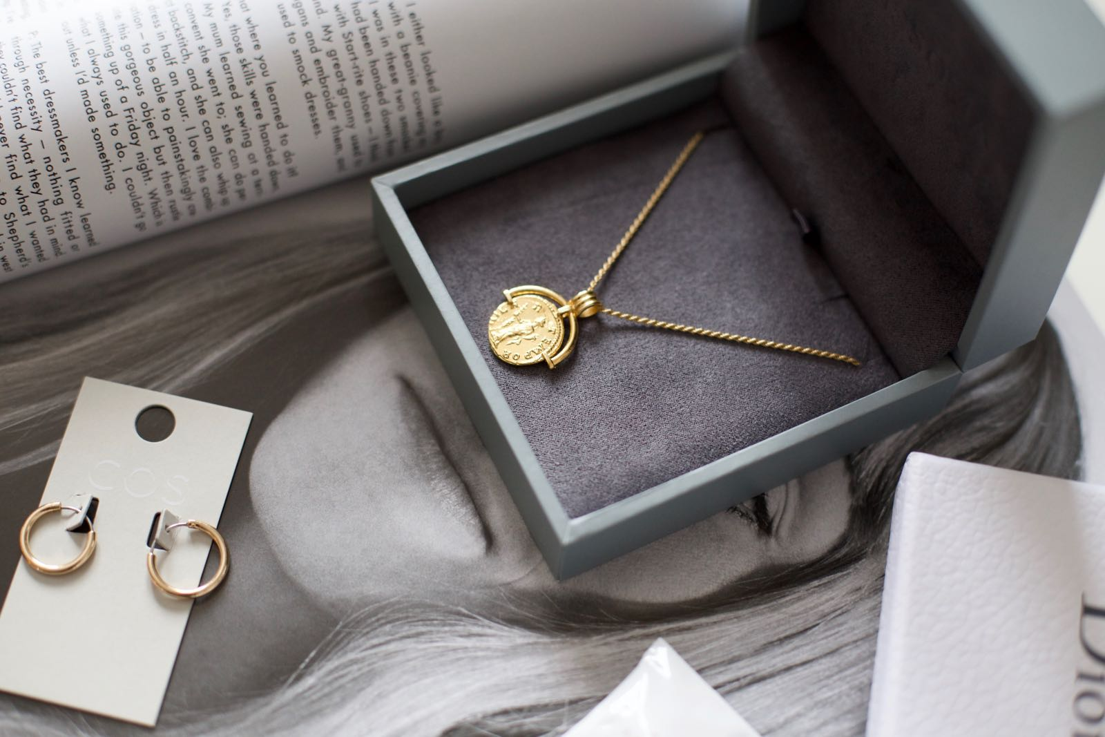 Hoops: COS / Necklace:  Lucy Williams x Missoma Roman Coin