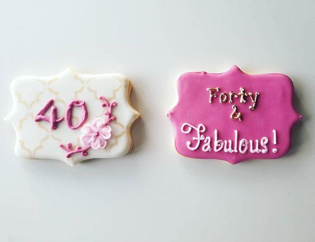 40 and fabulous 💕  #hautesweets #occookies #customcookies