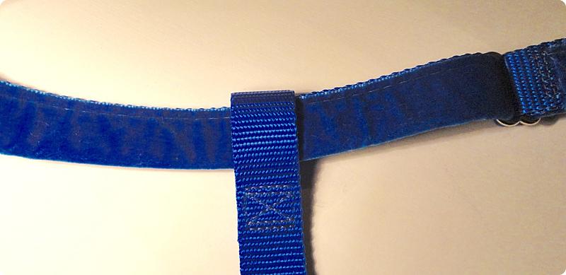 Velvet wrap on belly strap
