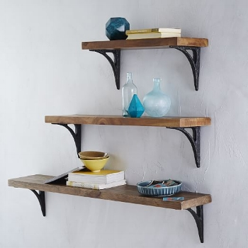 Reclaimed Wood Shelving + Brackets