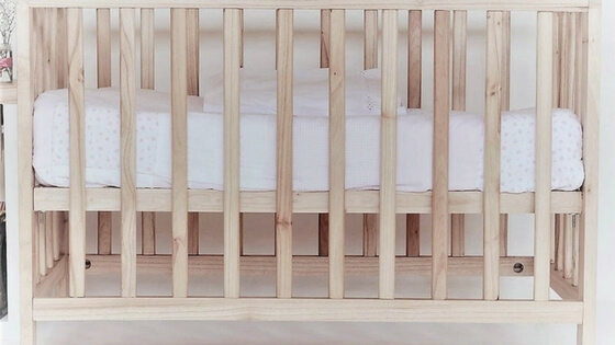 When you get a crib, go for classic, no-frills, and one that will transition easily into toddlerhood and beyond. One with all the bells and whistles? Will look dated in a year.