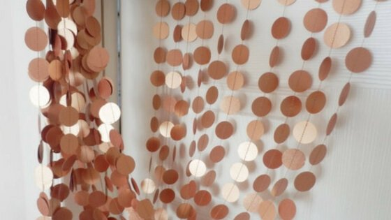 Copper Garland from  duetofpapers  at Etsy