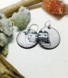 Typewriter Earrings