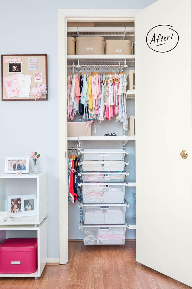Swoon. If only all the closets looked this great. Fantastic makeover from  Ben and Shannon Gibson