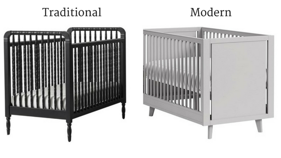 Left:  Elsie Spindle Convertible Crib , right:  Reese Convertible Crib