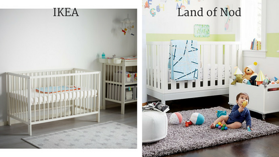 Left:  GULLIVER crib  Right: Flex 4-in-one Convertible Crib (no longer available)