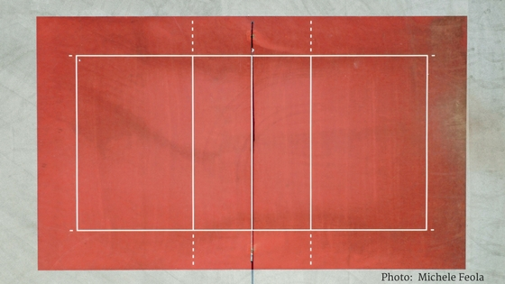 Tennis court or fantastic rug? I'll never tell ;)