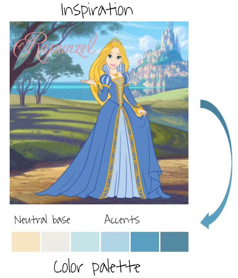 princess theme blog color palette