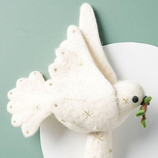 Felted Dove Tree Topper | Anthropologie