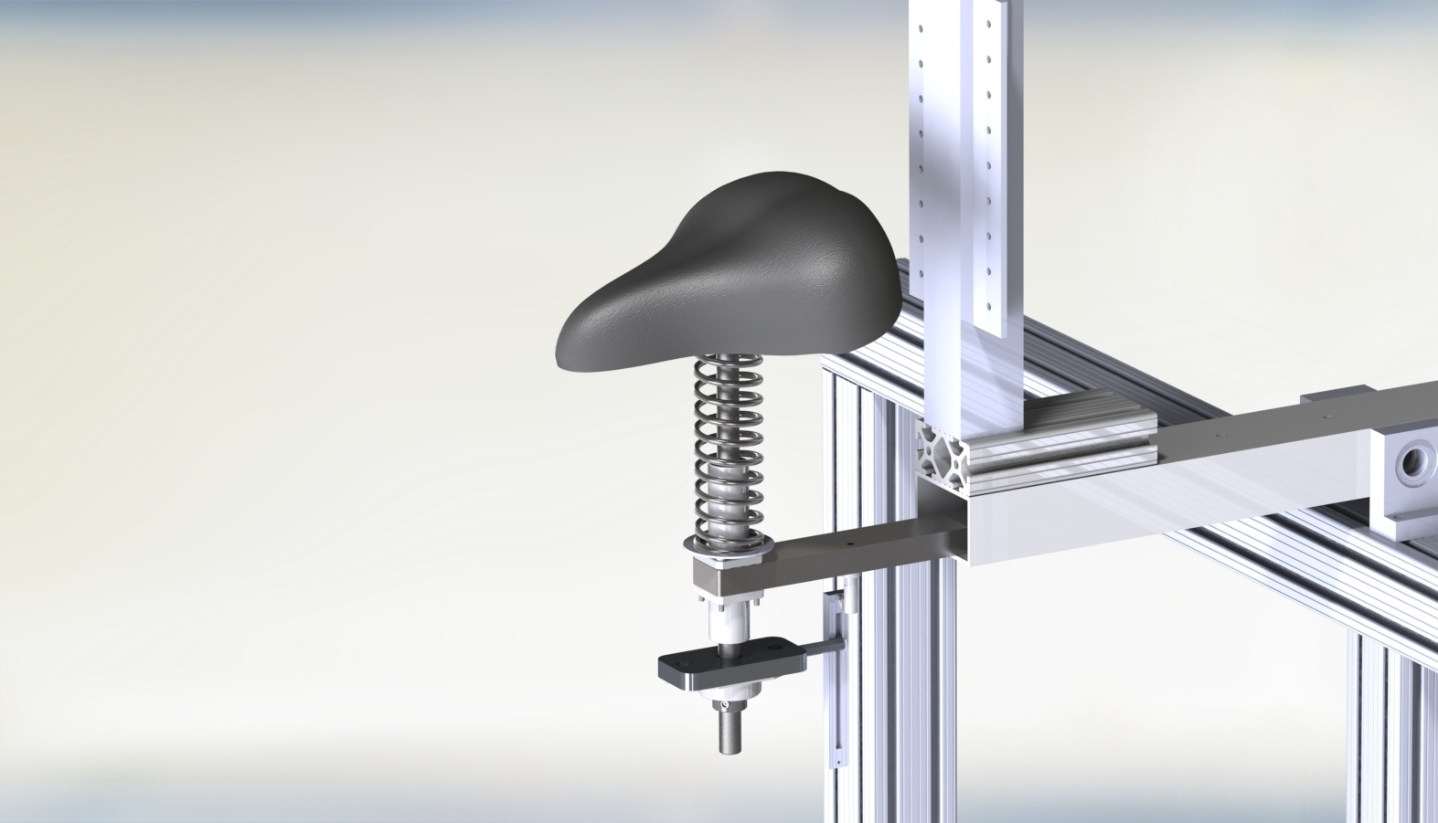 The final design of the body weight support system used a bearing and a linear potentiometer to accurately provide body weight support data.