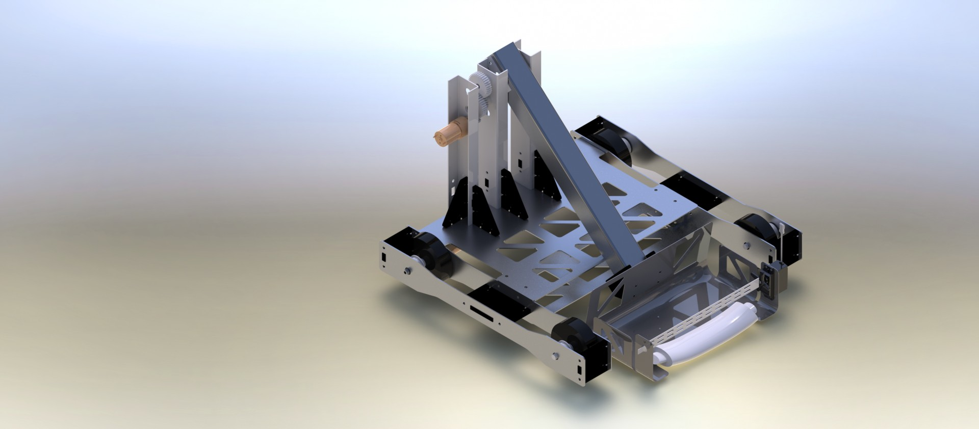 Final CAD Rendering: The CAD was used to minimize manufacturing time and ensure that the system could be assembled properly.