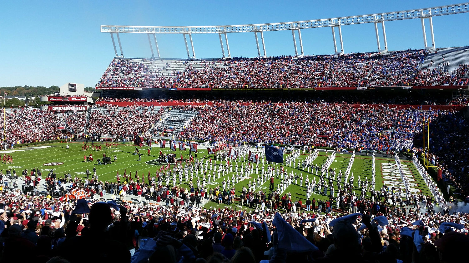 The Gamecocks take the field in front of an anemic crowd on November 14, 2015.