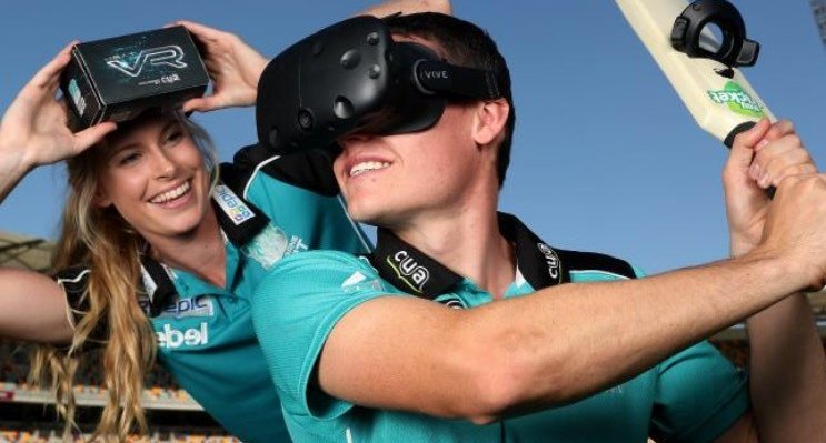 Brisbane Heat were the first cricket club in the world to use VR