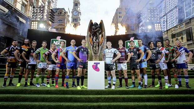 Ready to rumble. Captains attend the NRL 2017 season launch. Image credit - NRL.com