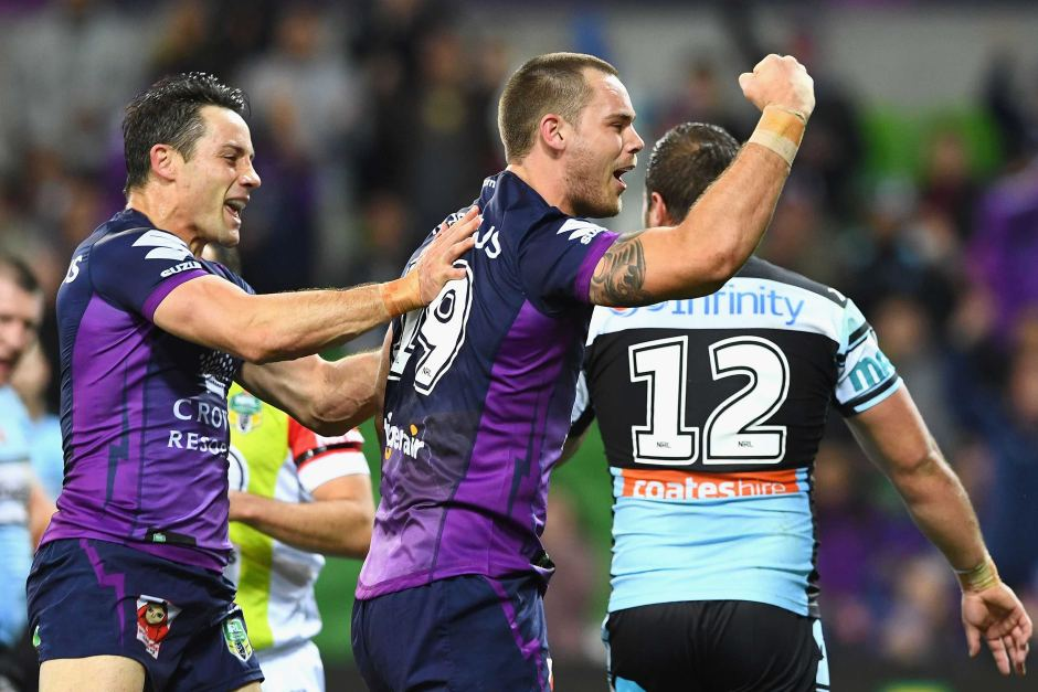 A club that allows you to be better than you are - Melbourne Storm's Cheyse Blair (centre). Image credit - abc.net.au