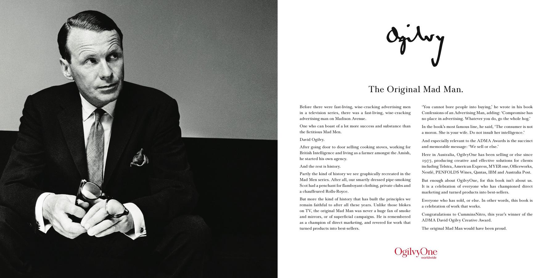 David Ogilvy, the Father of Advertising. Image credit - Confessions of an Advertising Man