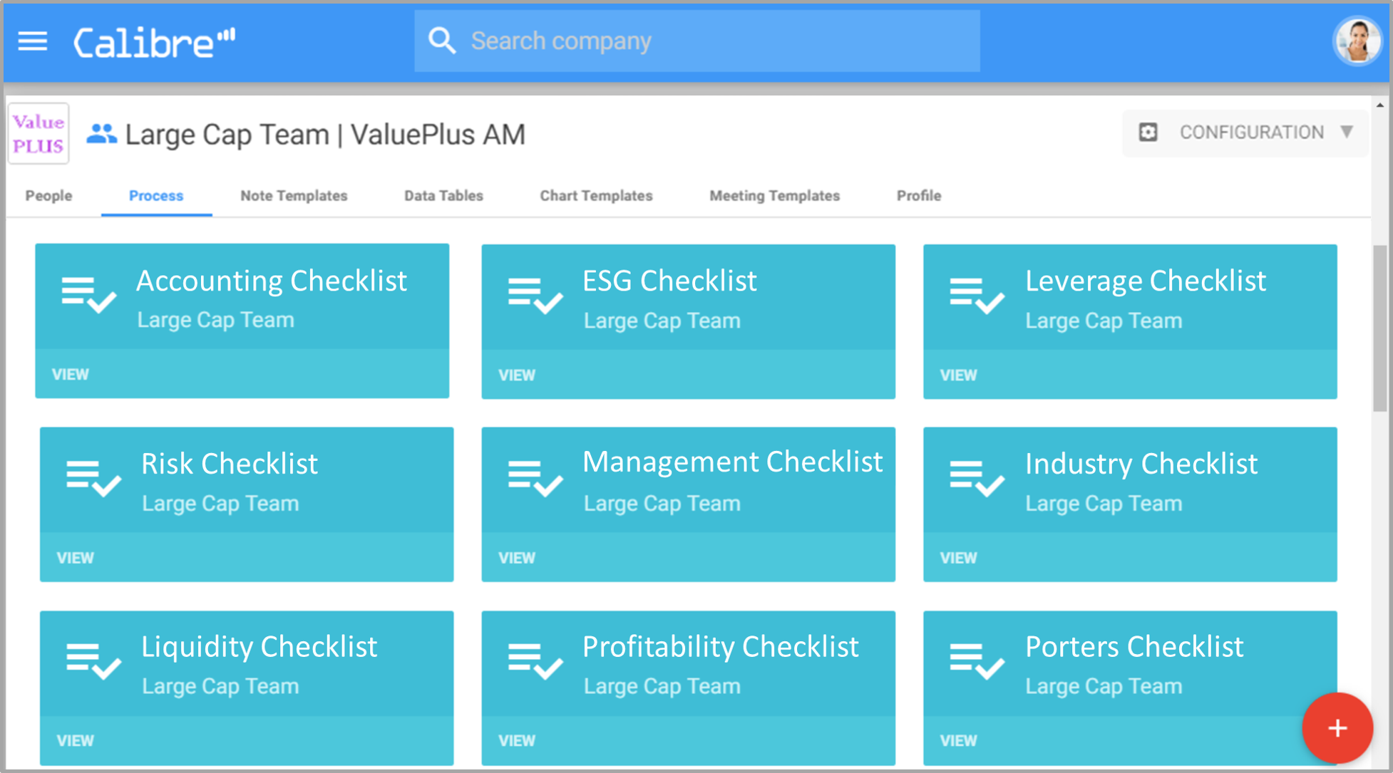 Fully customise checklists to your team and process (click to enlarge)