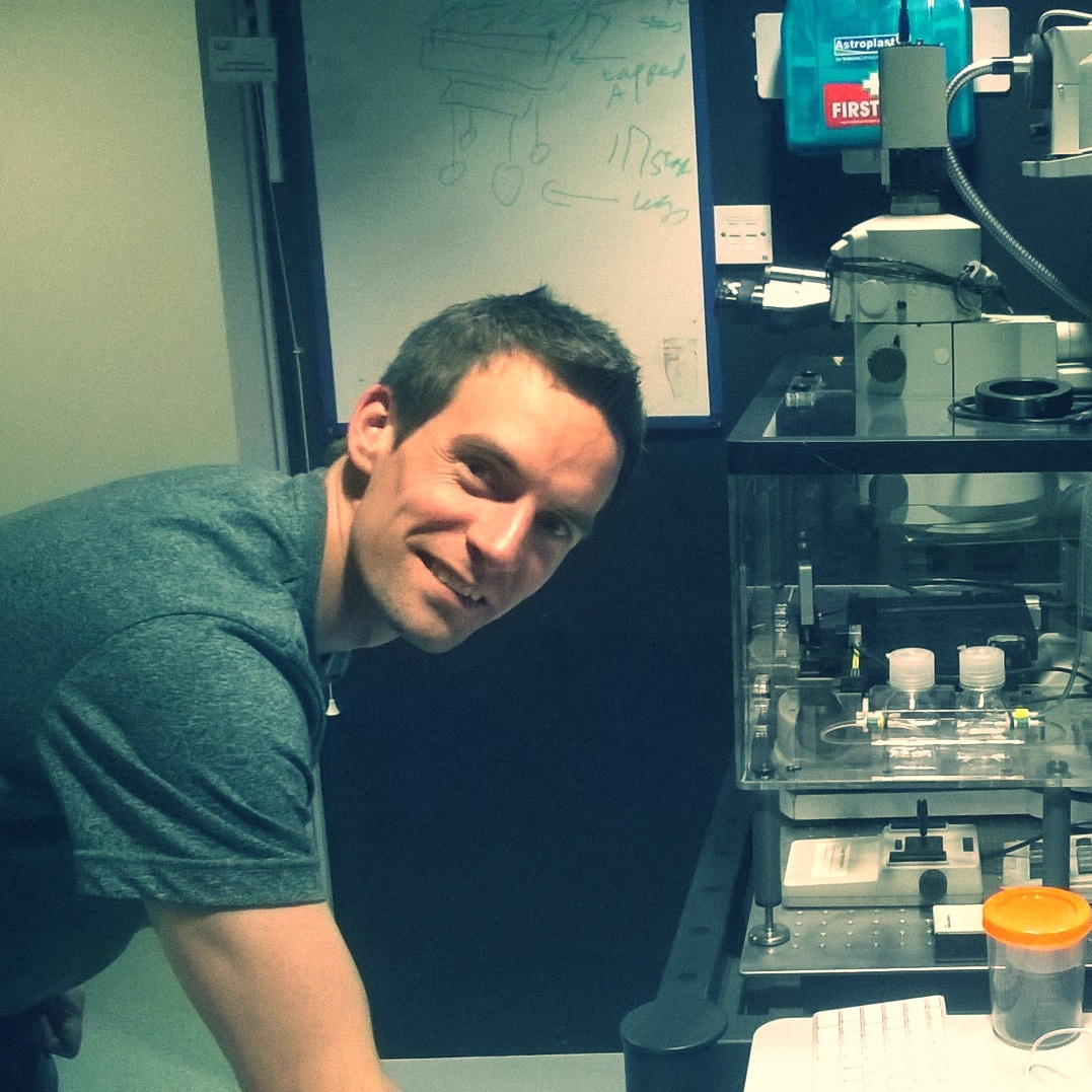 Matt Pearson  supports the four  confocal  microscopes and the  super-resolution  systems