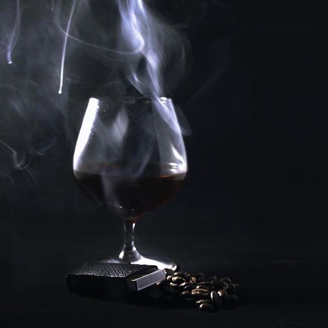 "#aromatherapy 🌬 Our air drink pushes the experience of drinking. A tribute to ""Wake Me Up Before You Go Go"" by George Michael ~ this caffeinated palette is crafted using Amaro, Apple Jack, Jagermeister, Coffee syrup, bitters and coffee smoke ~ credits to @atayates from @themannequincocktails . . . . #inmyelement #air #experiencefood #26starrstreet #dinnerparty #tbt #followformore"