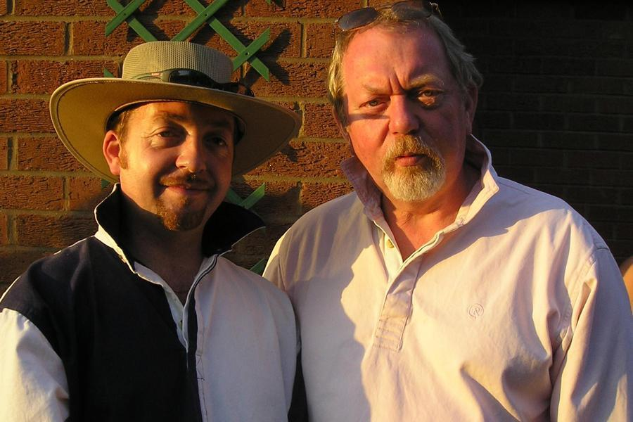 Andrew and his father Alan Glasby