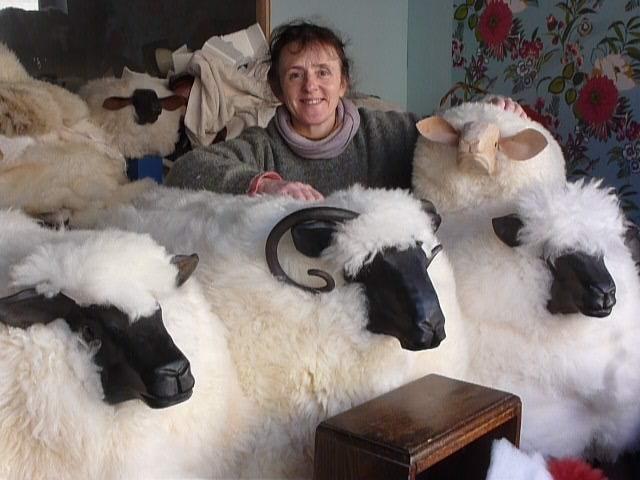 Liz & her Ewenique Flock