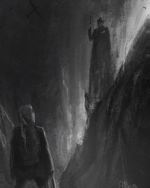 Recurring nightmare 1/3 #drawing #draws #sketch #art #illustration #rlsm #perth #perthartist #weirdoart #lowbrowart #juxsketch