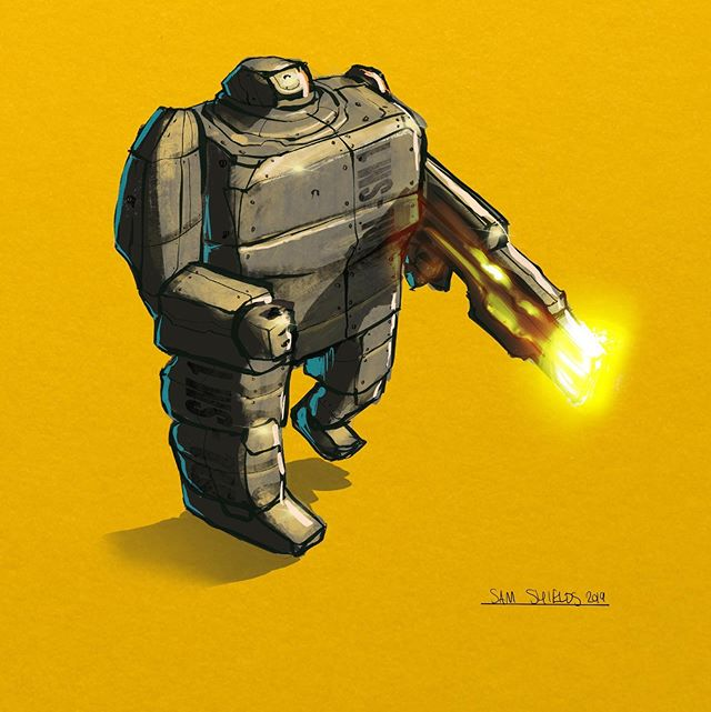 Iron Brick Man  #drawing #draws #sketch #art #illustration #riot #perth #perthartist #conceptart #lowbrowart #characterdesign