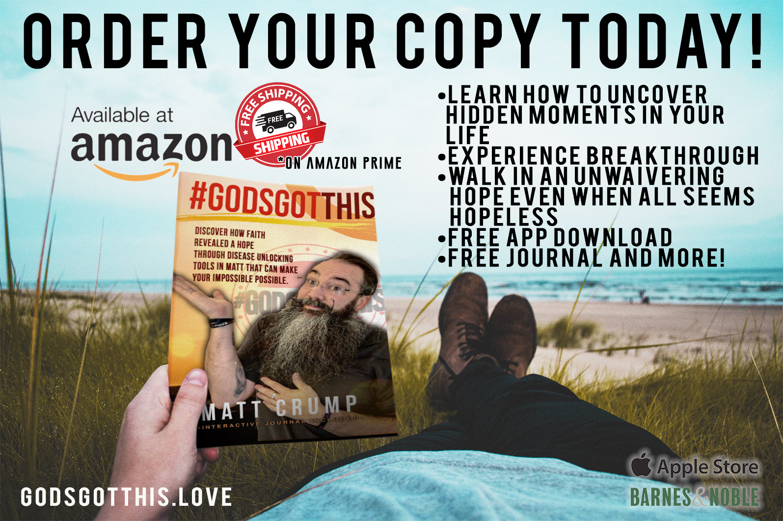 Order Today - •Available at most fine online book retailers.•Amazon Prime gets FREE shipping!!•Download the FREE app!•Journal and find your own #GodsGotThis Moments!