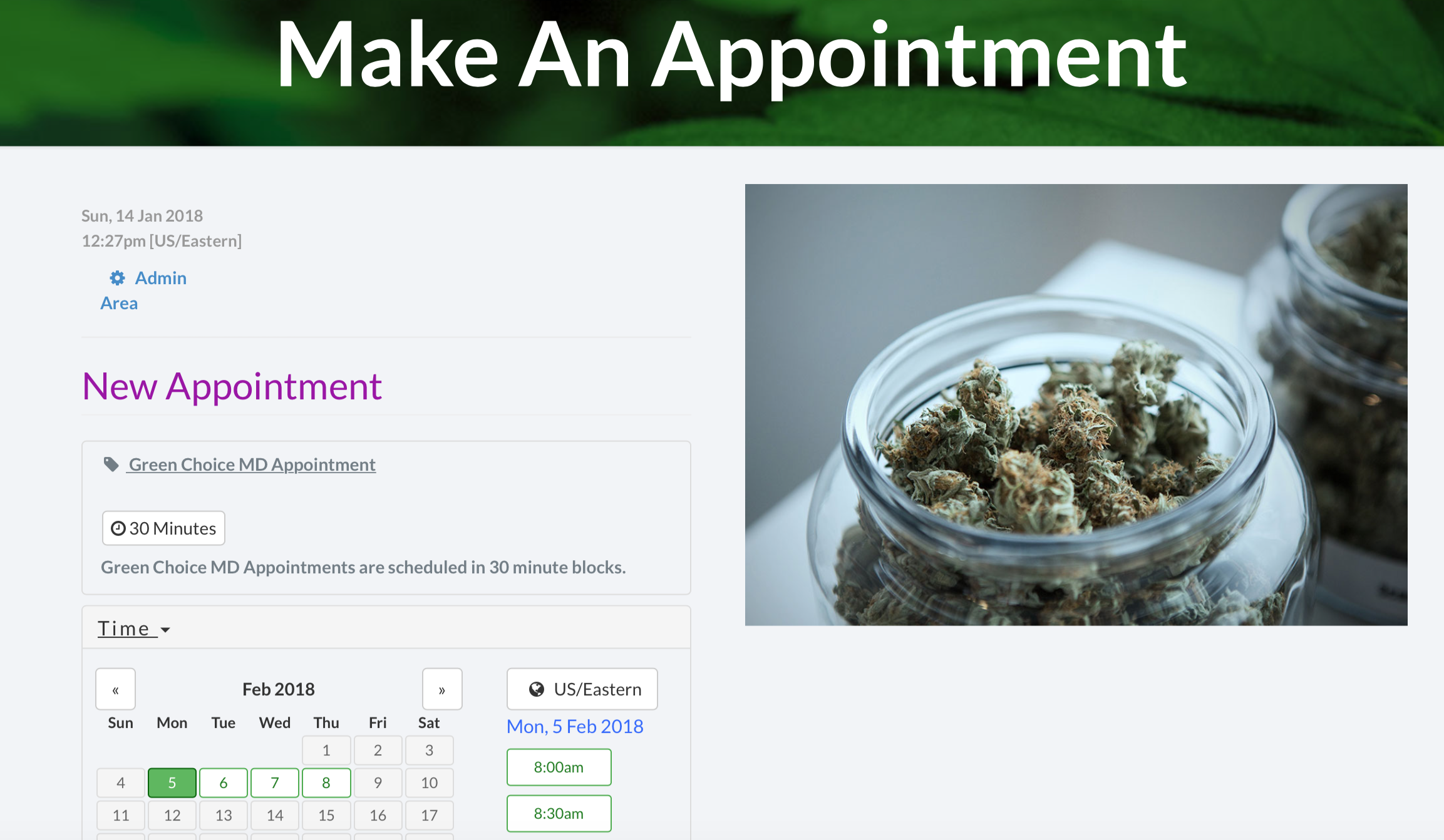 Appointment Page