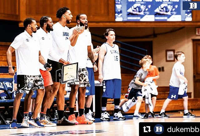 What a week! Thank you @tythornton3 @iamjustise @jah8 @jhairston15 for being stud coaches. I'll take a charge or hack the shit out of someone any day for you fellas #TeamNike
