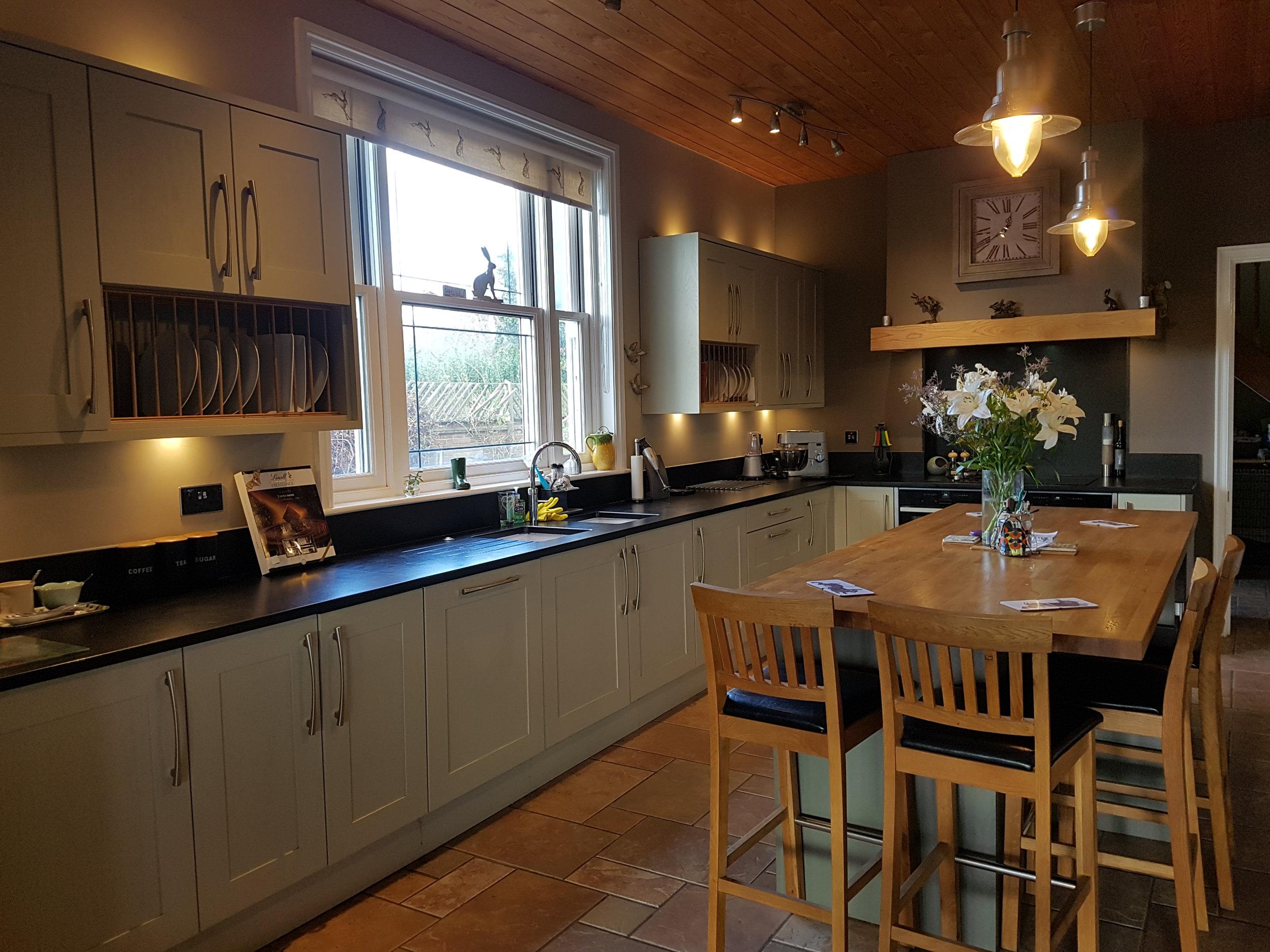 Handmade painted Ash farmhouse kitchen