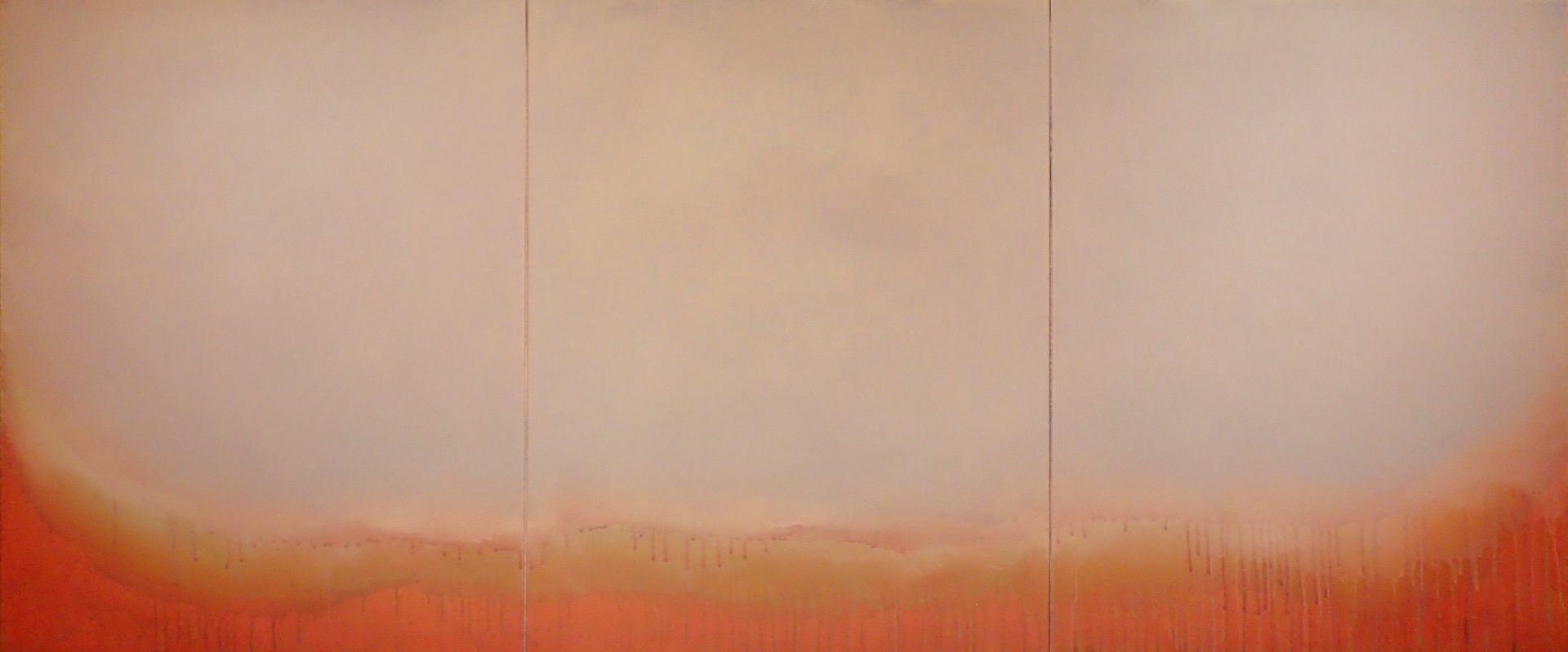 """Silent Search - No. 38, 2015, acrylic on canvas, 28"""" x 66"""""""
