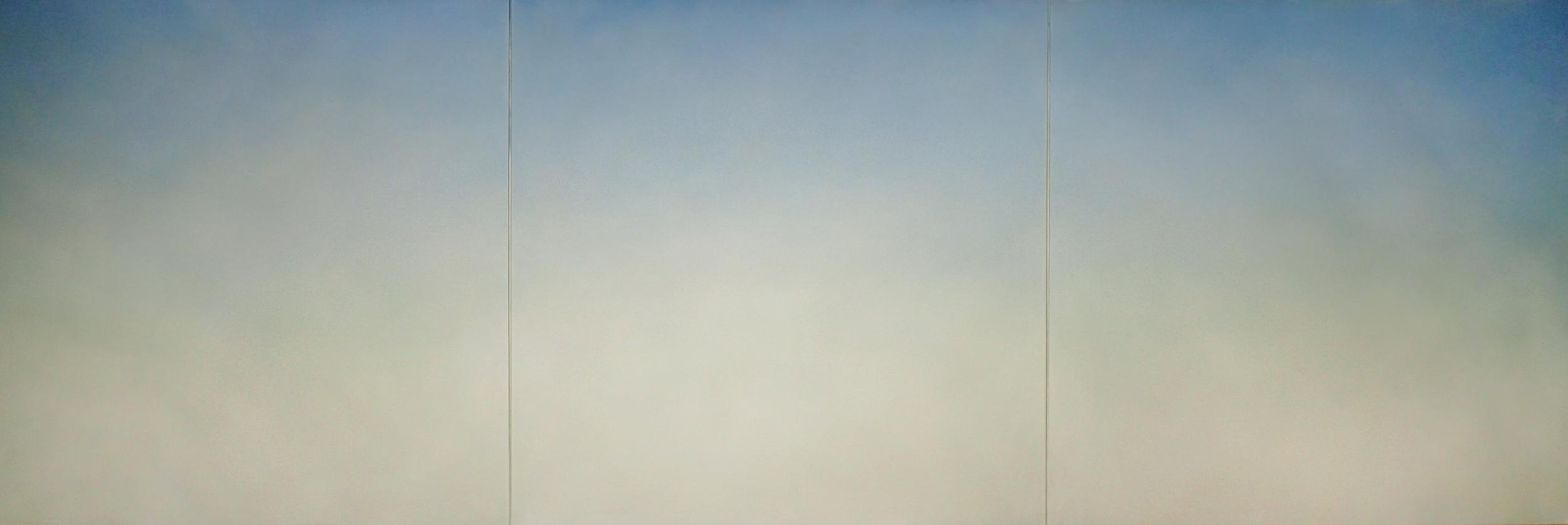 "Untitled - Minnesota, 2016, acrylic on canvas, 40"" x 120"""