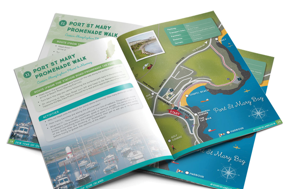 Year of our Island trail book design