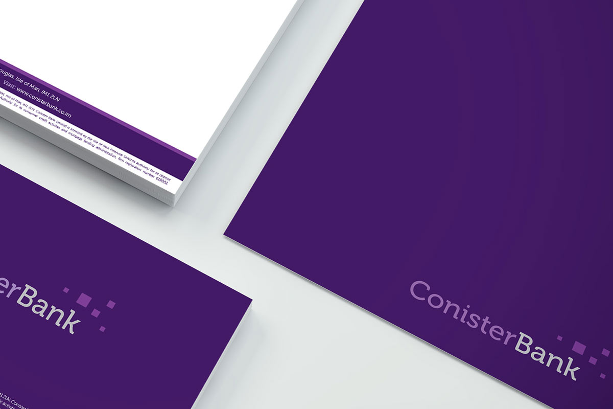 Conister Bank marketing collateral