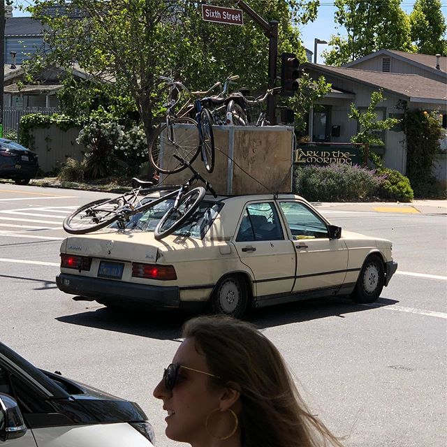 Interesting way to transport bikes.