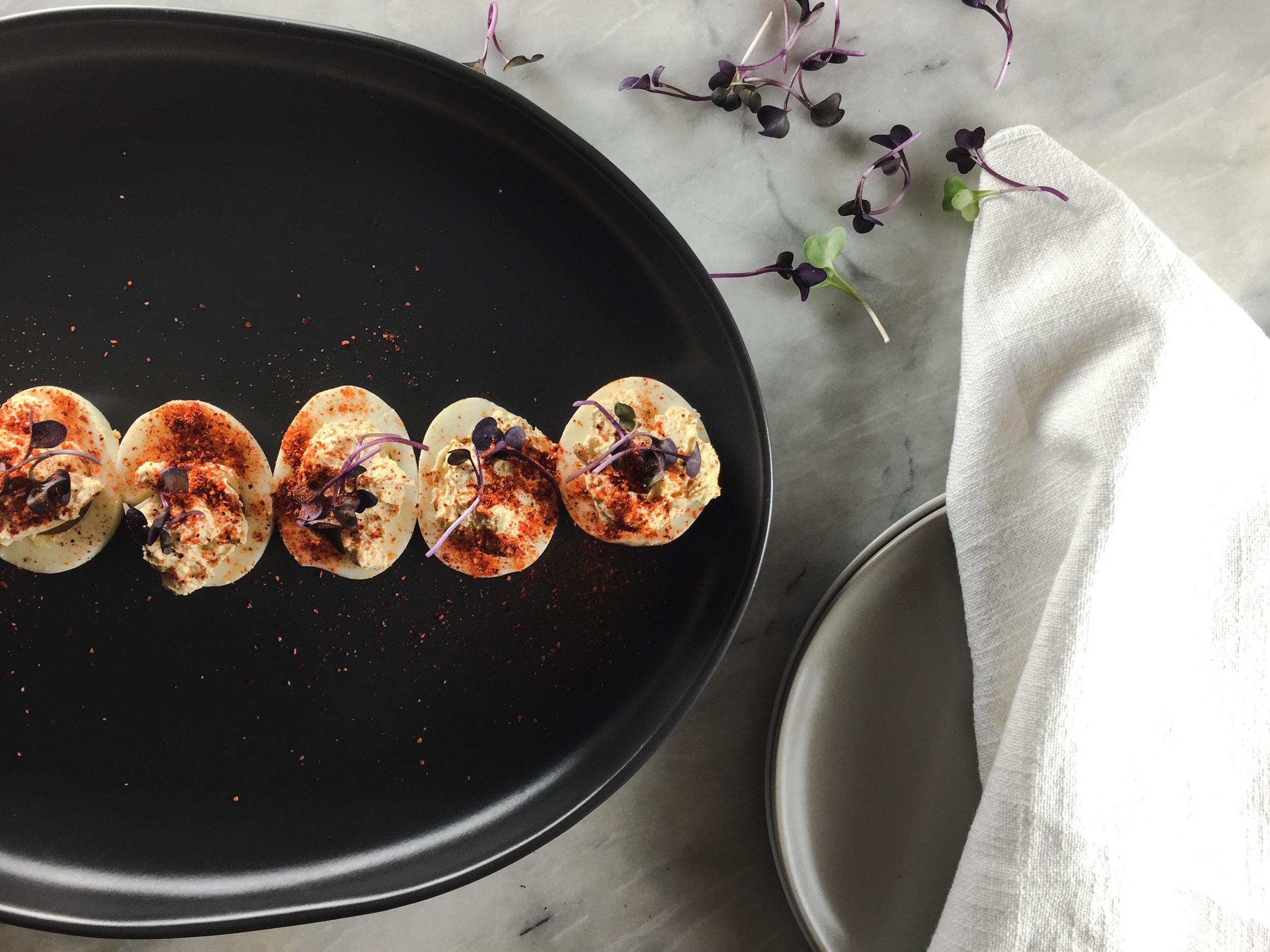 Espelette Pepper Deviled Eggs