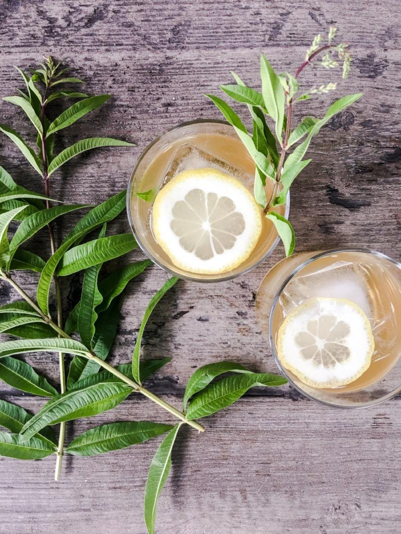 Boozy Iced Green Tea with Lemon Verbena.JPEG