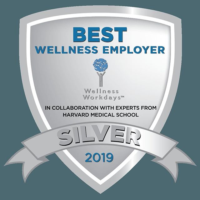 Our #worksitewellness initiatives are getting noticed and we're honored to be recognized for our outstanding achievements in corporate wellness. @wllnswrkdys 💪 . . . #BestWellness2019 #celebratinghealthyworkplaces #HR