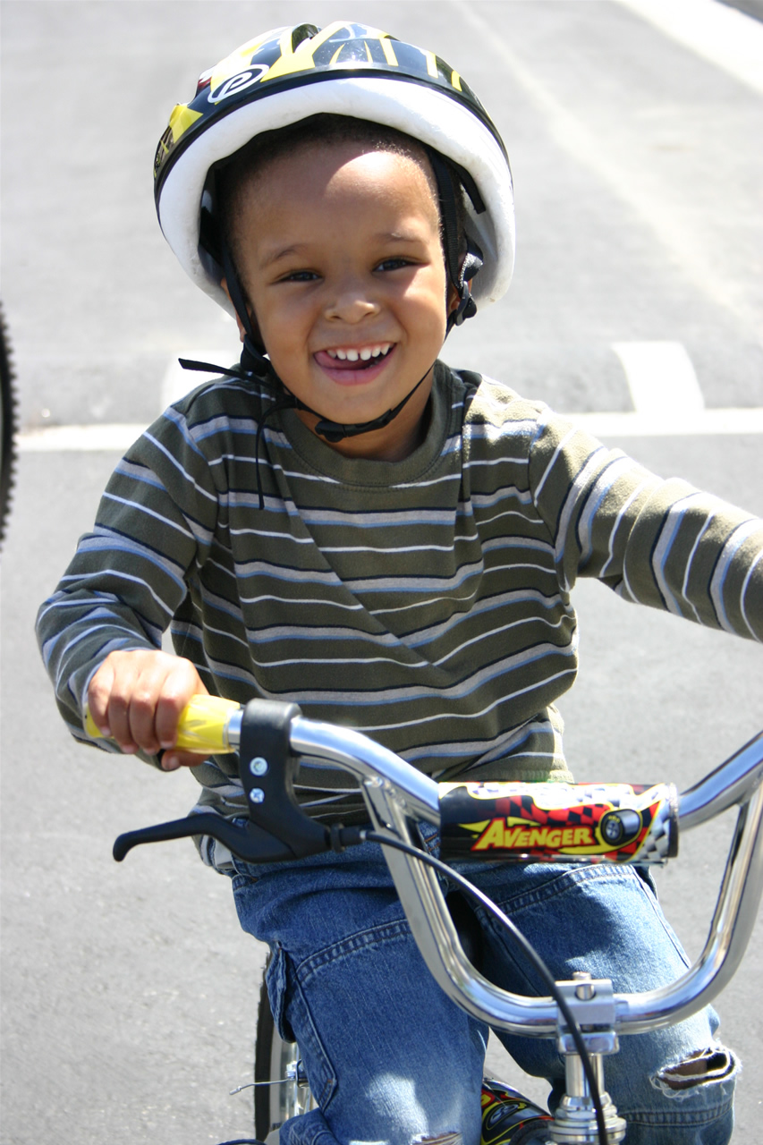 boy on merced city bike trails