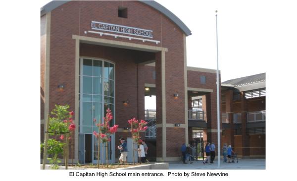 El Capitan High School main entrance.  Photo by Steve Newvine