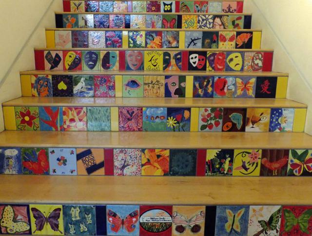 Stairs to upper levels - PHOTO BY ADAM BLAUERT