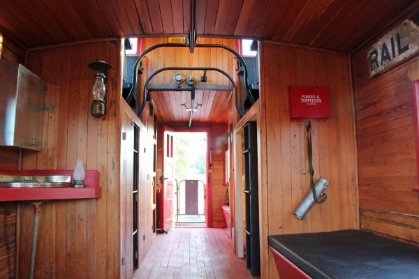 Inside the Caboose - PHOTO BY ADAM BLAUERT